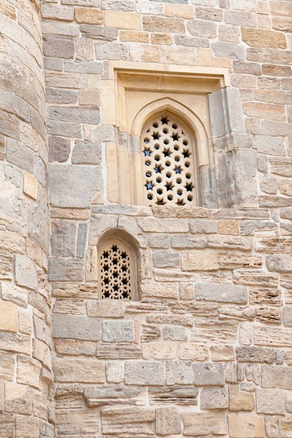 Alminar de la mezquita de Juma, mescidi en Baku Old City, Azerbaijan de Cume imagenes de archivo
