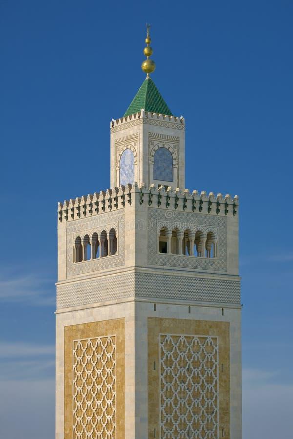 Alminar de la mezquita de Zitouna fotos de archivo