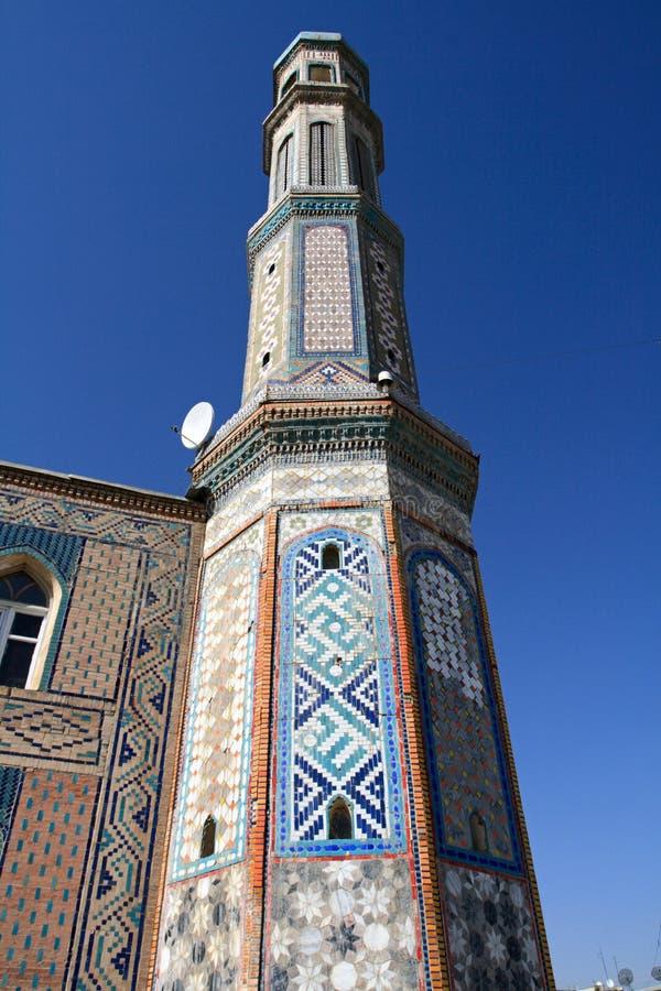 Alminar en el Dushanbe foto de archivo