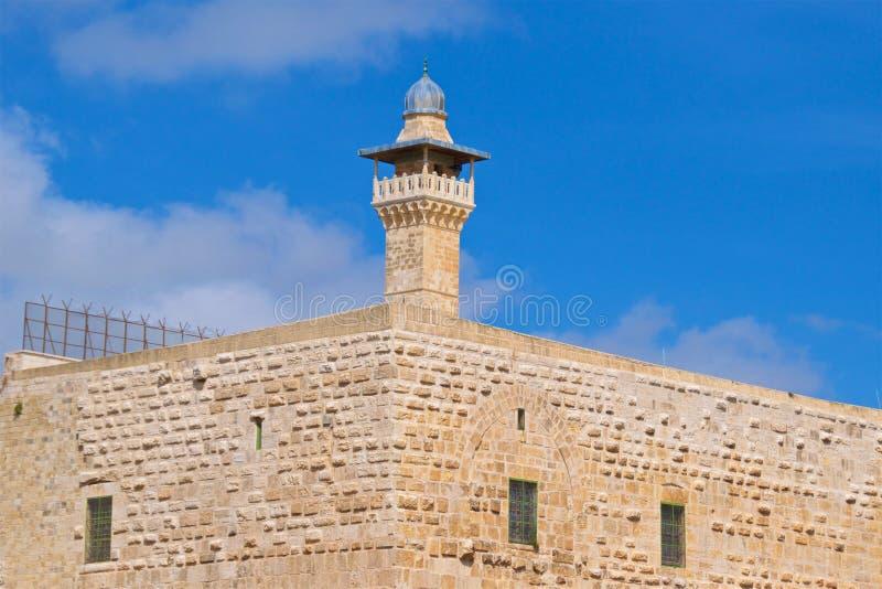 Alminar en la Explanada de las Mezquitas en la ciudad vieja de Jerusalén, Israel imágenes de archivo libres de regalías