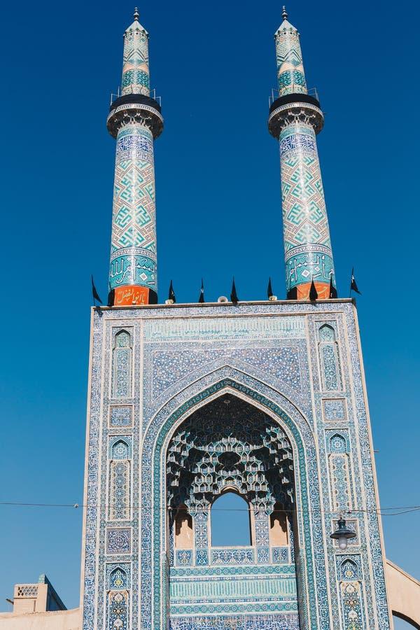 Alminar viejo Irán de la mezquita de la arquitectura del mausoleo islámico imagen de archivo libre de regalías
