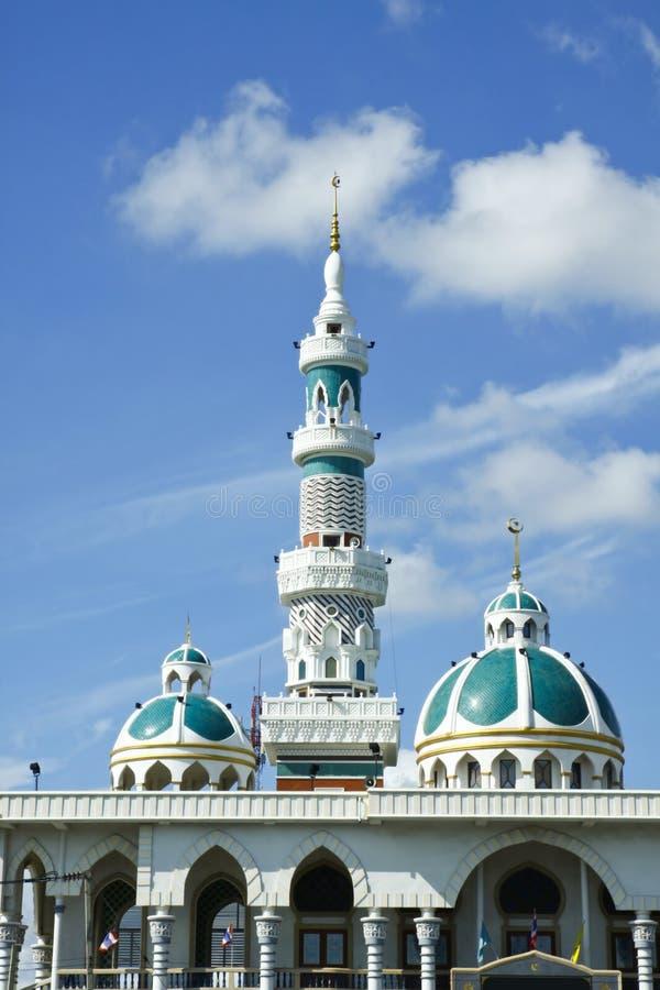 Alminar y bóveda de la mezquita foto de archivo