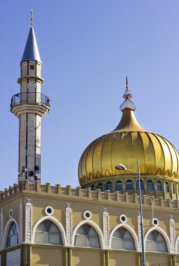Alminar y mezquita de Nabi Saeen en Nazaret, Israel imagen de archivo