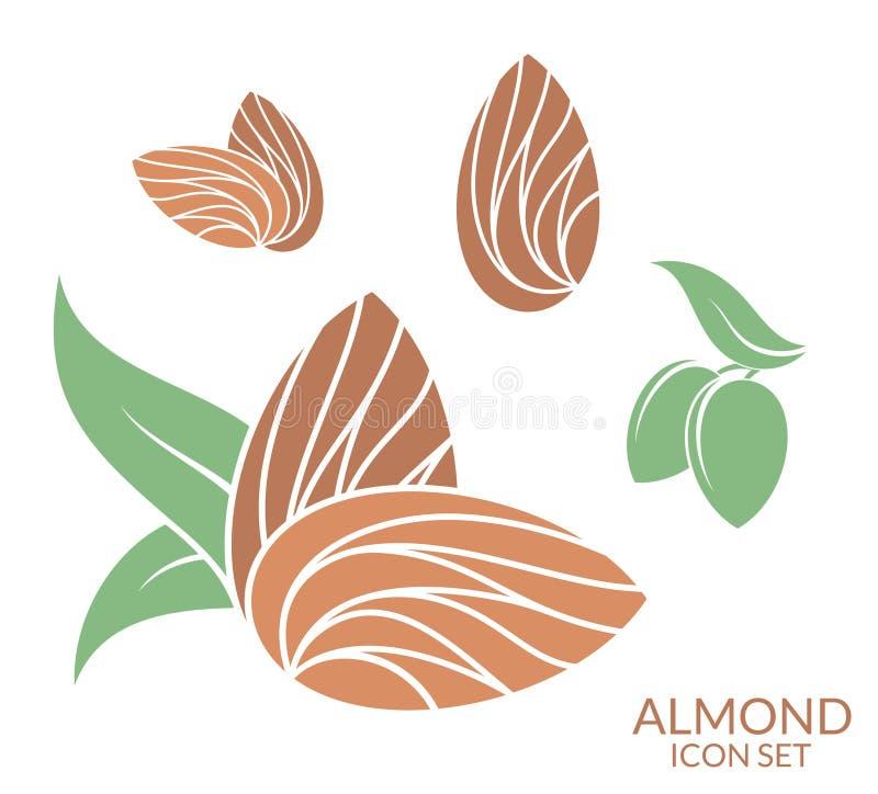 almira Комплект значка Плодоовощ на белой предпосылке иллюстрация штока