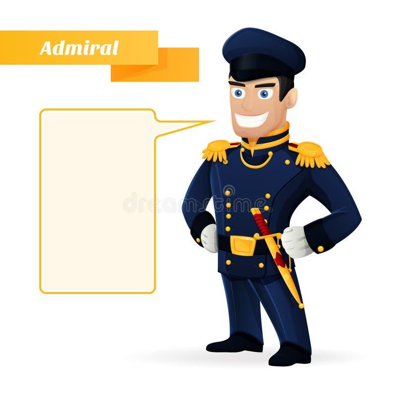 almirante ilustração royalty free