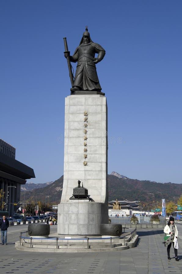Sun-pecado coreano Seul céntrica de almirante Yi foto de archivo