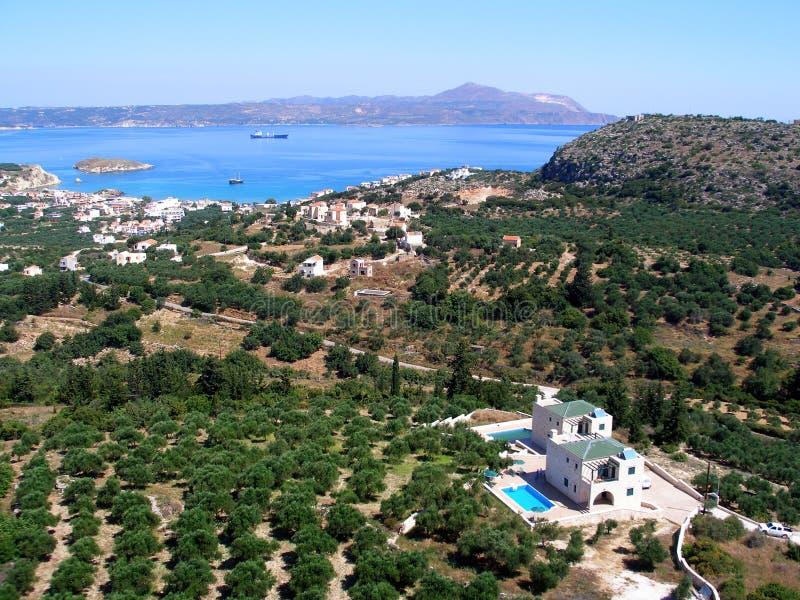 Almirida - Plaka strand, Chania, Kreta, Grekland arkivbilder