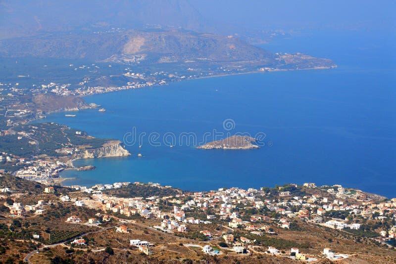 Almirida - Plaka strand, Chania, Kreta, Grekland fotografering för bildbyråer