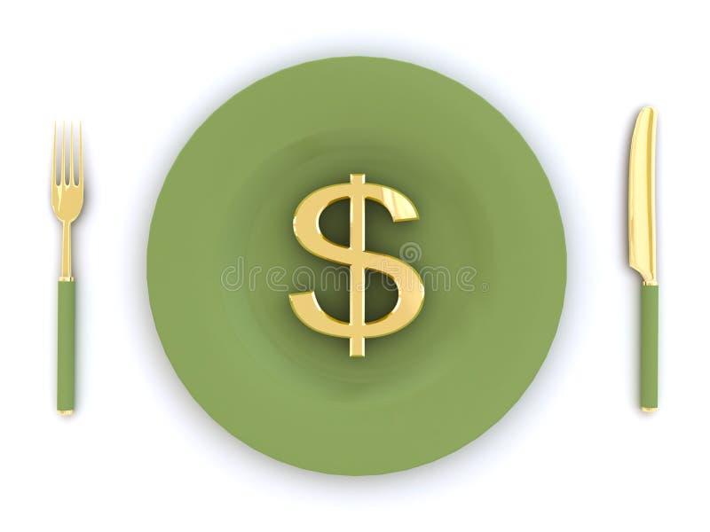 Almoço ilustração royalty free