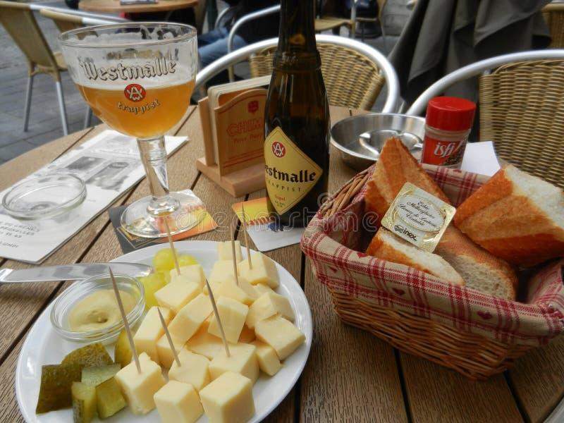 Almoço belga claro foto de stock royalty free