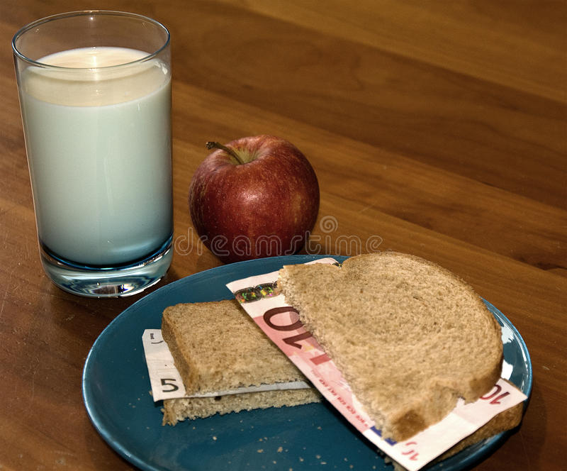 Almoço caramente saudável foto de stock