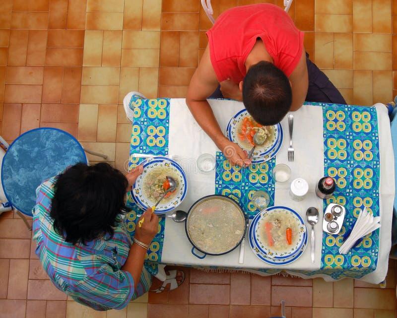 Almoço da família fotografia de stock
