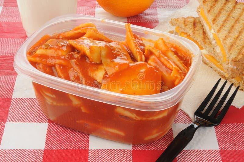 Almoço da microonda imagens de stock