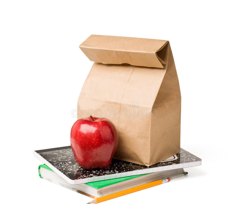 Almoço de escola fotos de stock royalty free