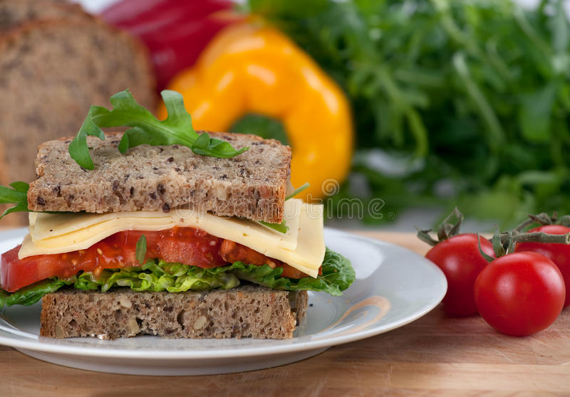 Almoço de Healty imagens de stock royalty free