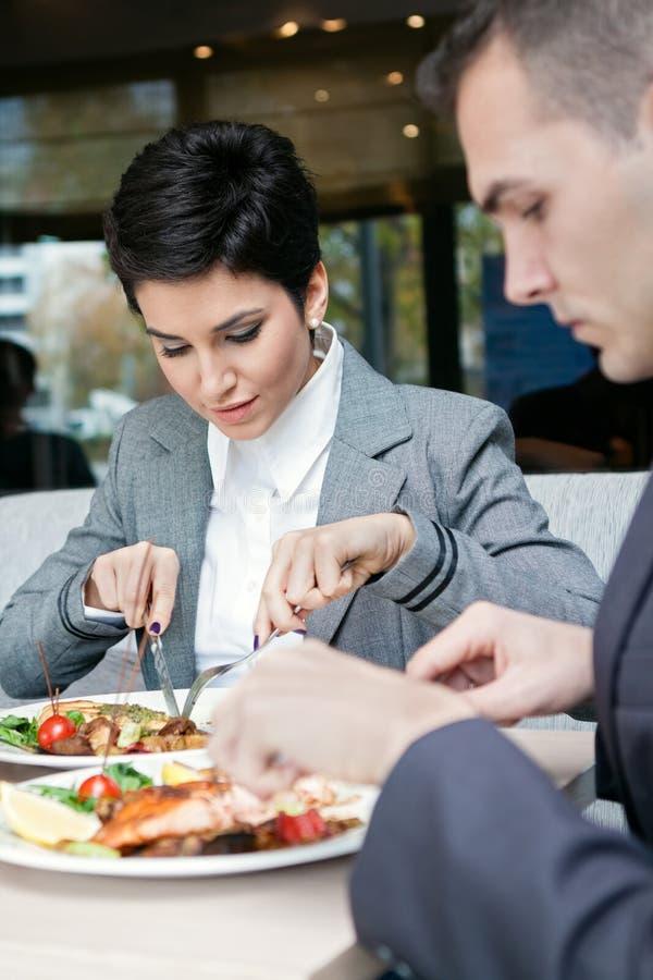 Almoço de negócio fotografia de stock