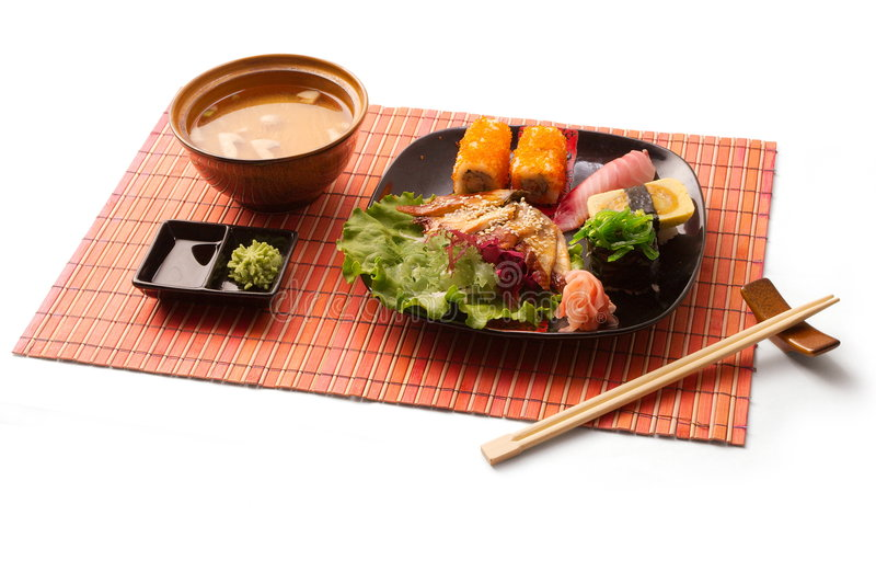 Almoço de negócio asiático 7 fotografia de stock royalty free