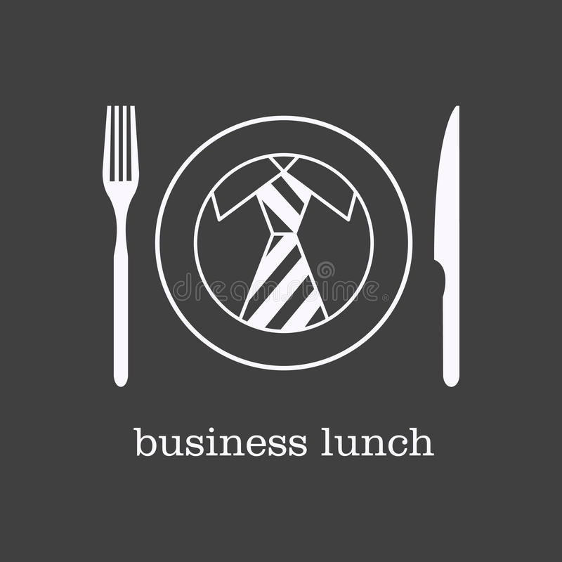 Almoço de negócio do ícone ilustração royalty free