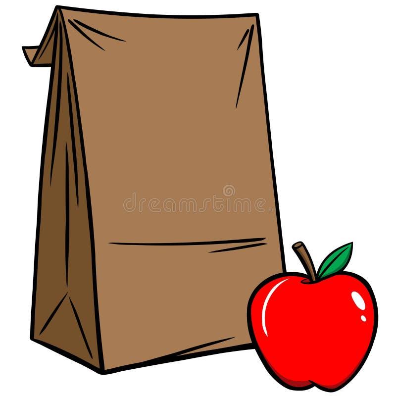 Almoço de saco ilustração stock