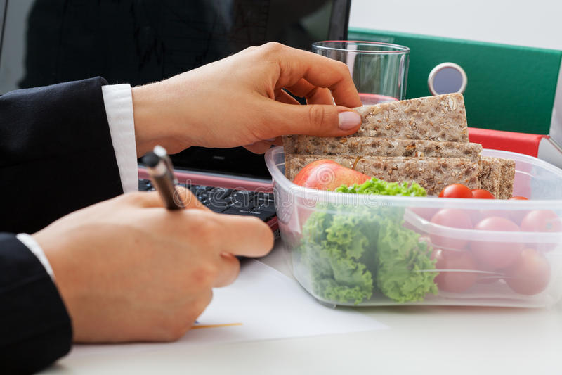 Almoço dietético, pão claro fotos de stock royalty free