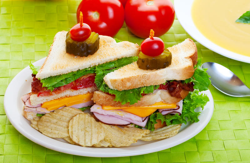 Almoço do sanduíche fotografia de stock