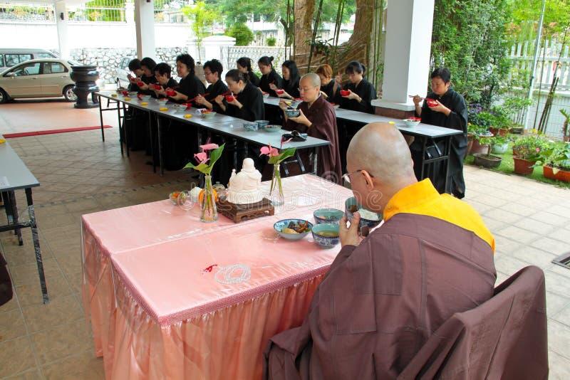Almoço do vegetariano de Buddish com mestre imagens de stock royalty free
