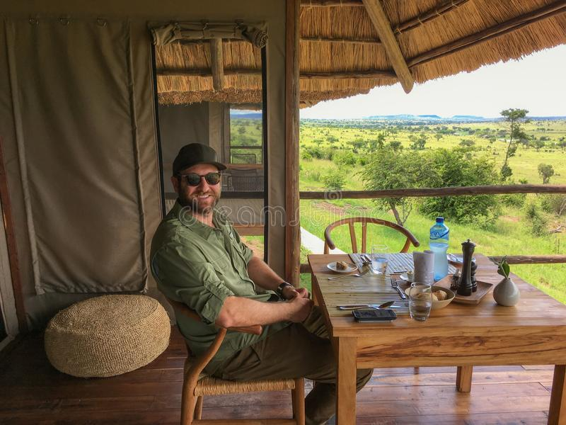 Almoço em África foto de stock royalty free