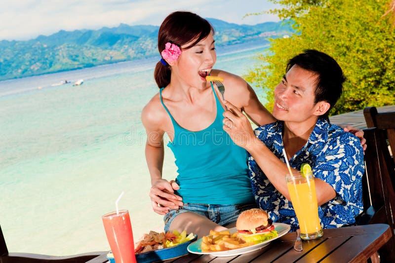 Almoço em férias fotografia de stock royalty free
