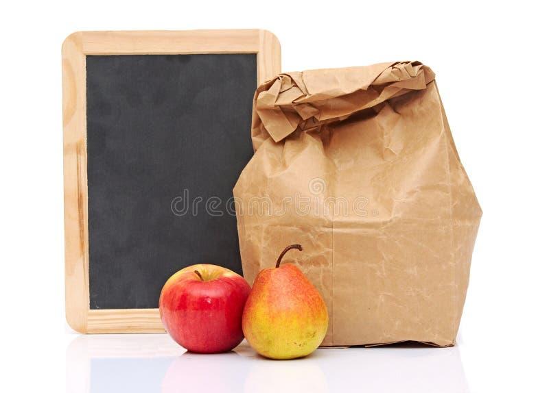 Almoço escolar fotografia de stock