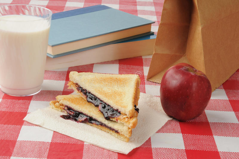 Almoço escolar fotografia de stock royalty free