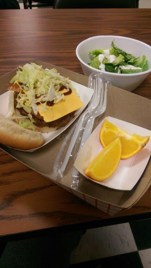 Almoço escolar imagens de stock royalty free