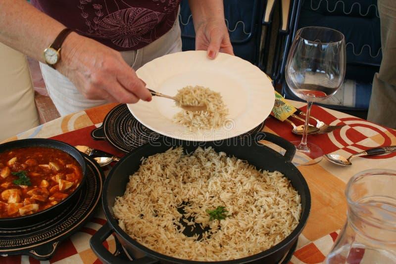 Almoço Indiano no Exterior imagens de stock