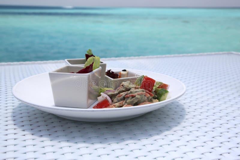 Almoço na praia imagens de stock