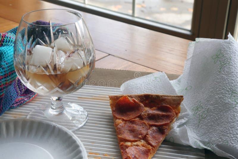 Almoço restante da pizza imagem de stock royalty free