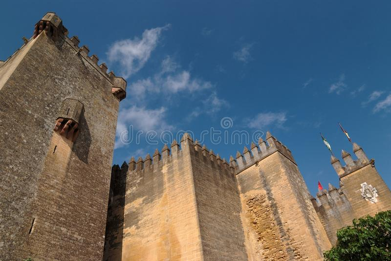 almodovar κάστρο del μεσαιωνικό Ρίο Ι στοκ εικόνες