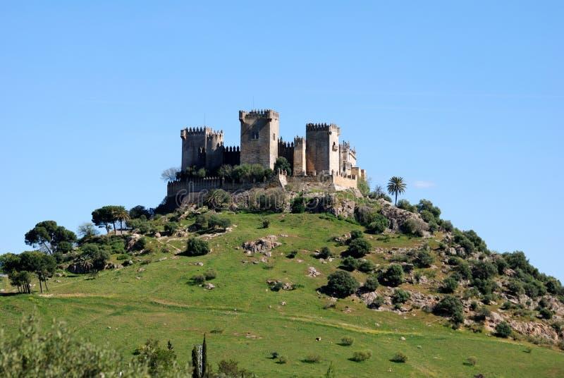 almodovar del rio Испания замока стоковые фотографии rf