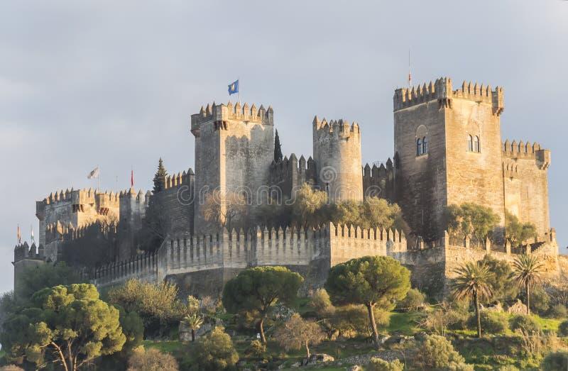 Almodovar del Rio kasztel, cordoba, Hiszpania zdjęcia stock