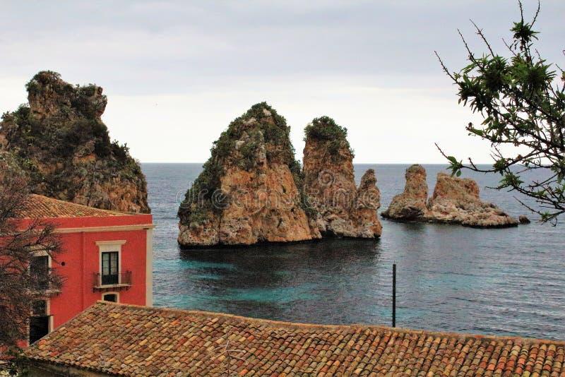 Almodrava de Scopello, Sicília fotos de stock royalty free