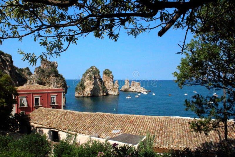 Almodrava de Scopello, Sicília fotos de stock