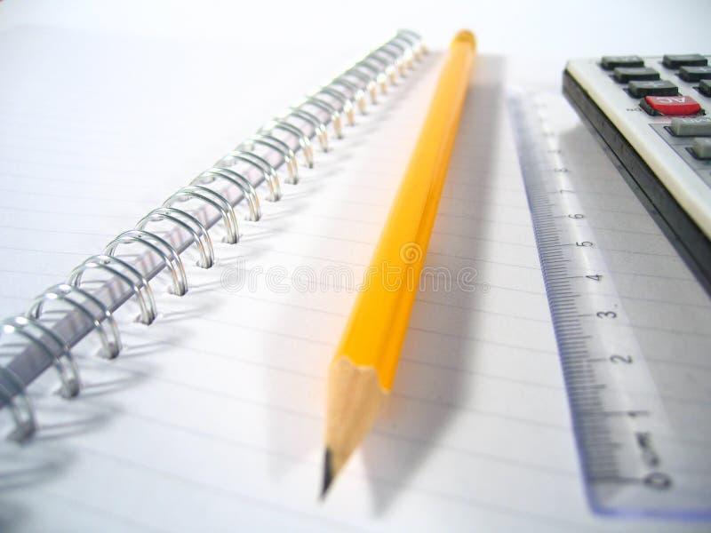 Almofada de escrita com lápis mim fotos de stock royalty free