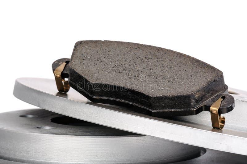 Almofada de freio e discos do freio imagens de stock royalty free