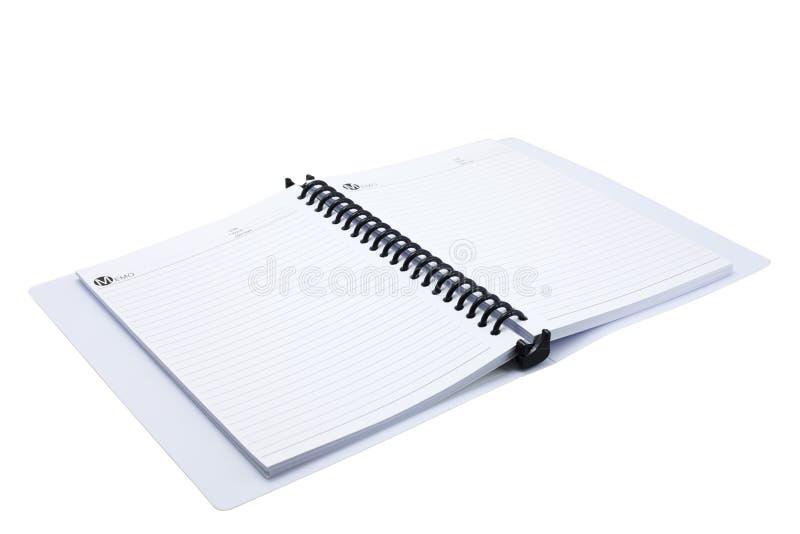 Almofada de memorando em branco imagem de stock