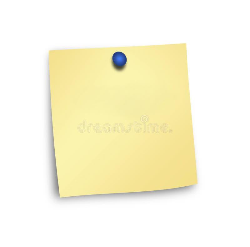 Almofada de nota e pino do impulso ilustração royalty free