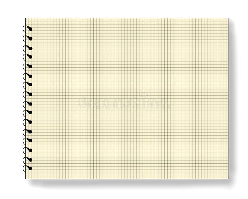 Almofada de nota em branco do bloco de notas ilustração stock