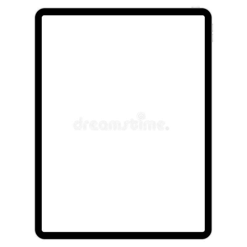 Almofada de tiragem para ilustradores no fundo branco ilustração stock