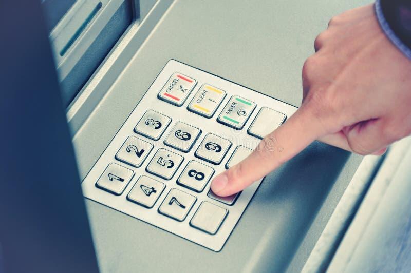 Almofada do seletor do ATM foto de stock royalty free