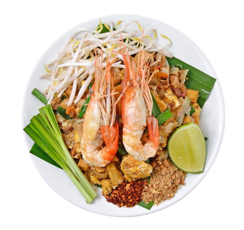 Almofada tailandesa do alimento tailandesa foto de stock