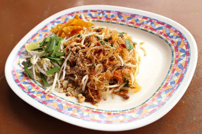 Almofada tailandesa (macarronetes finos fritados com molho de soja) imagens de stock royalty free