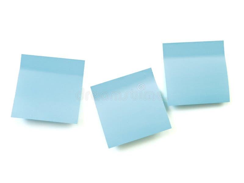 Almofadas de nota azul fotos de stock royalty free
