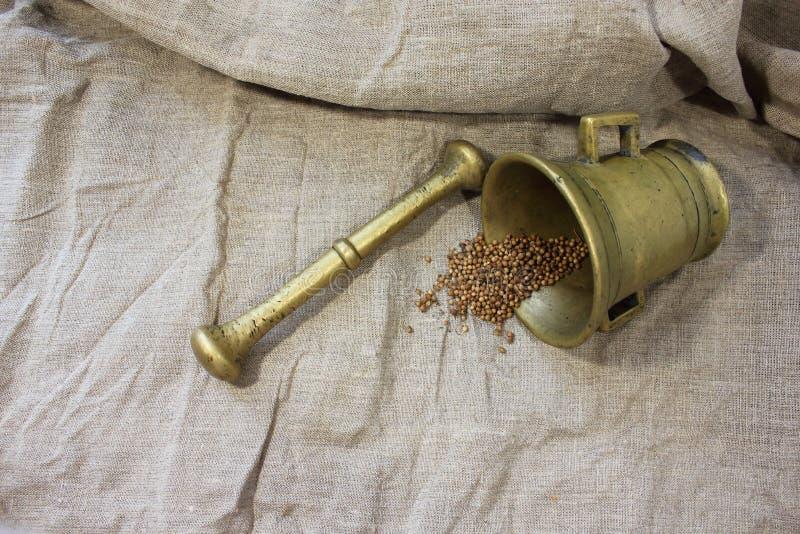 Almofariz de cobre foto de stock royalty free